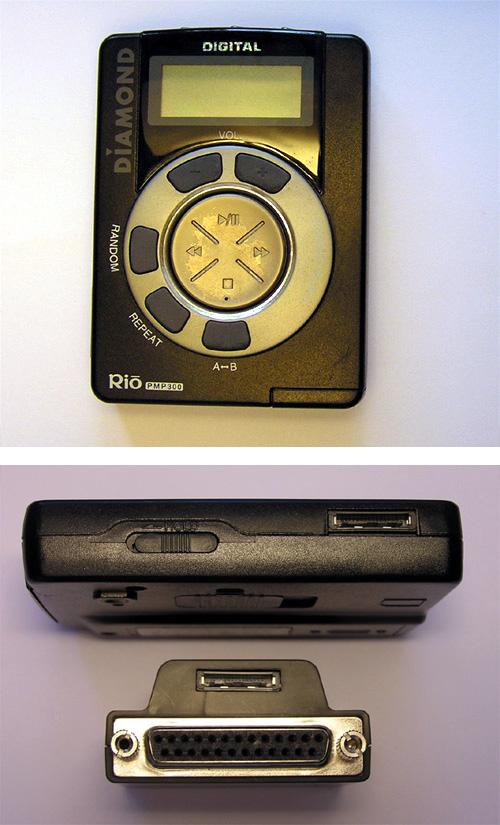 Premier succès commercial pour un baladeur MP3 : le Rio PMP300